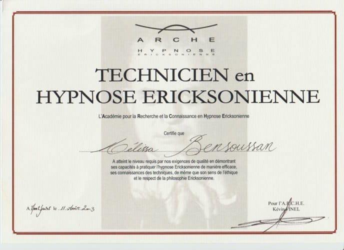 technicienne hypnose ericksonienne