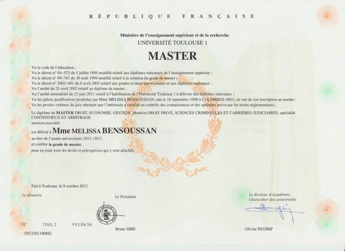 master de droit privé
